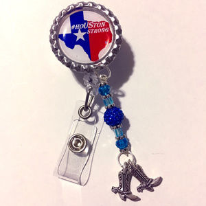 Houston Strong ID Retractable Reel Badge